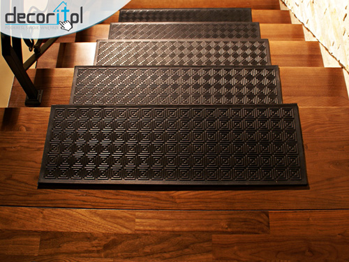 Anti Non Slip Rubber Stair Tread Treads Step Covers Mats Weather Resistant Ebay